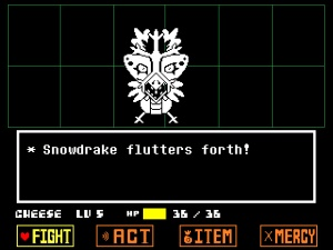 my first Snowdin monster encounter